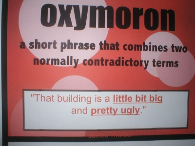 Oxymoron Examples For Kids You could have your child